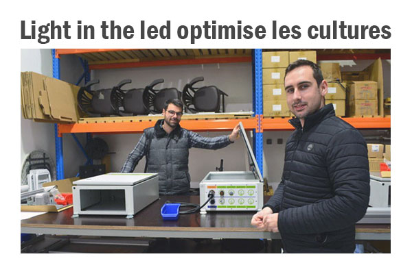 Articles presse Vacluse matin 23 décembre 2019 Light in the led optimise les cultures entrepot vgd box éclairage