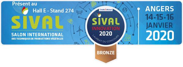 Bandeau Sival 2020 Salon international techniques de productions végétales