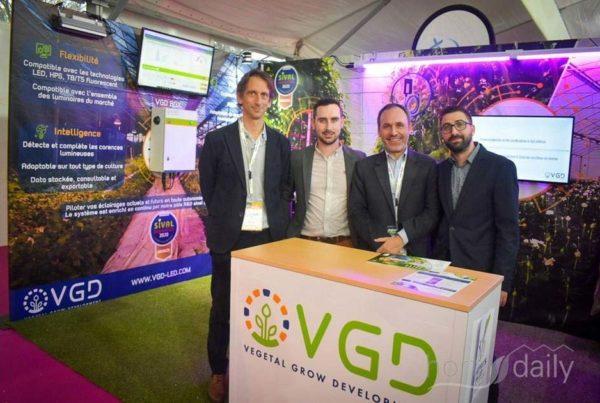 Stand VGD Sival 2020 éclairage led boiteir pilotage Alexandre Bameulle Guillamue Marie Julien Laz Nicolas Chauvin