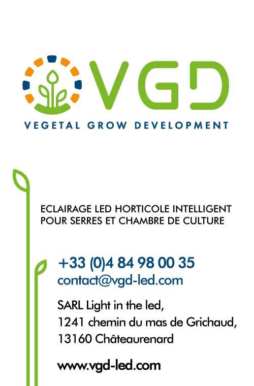 Carte visite VGD coordonnées contact