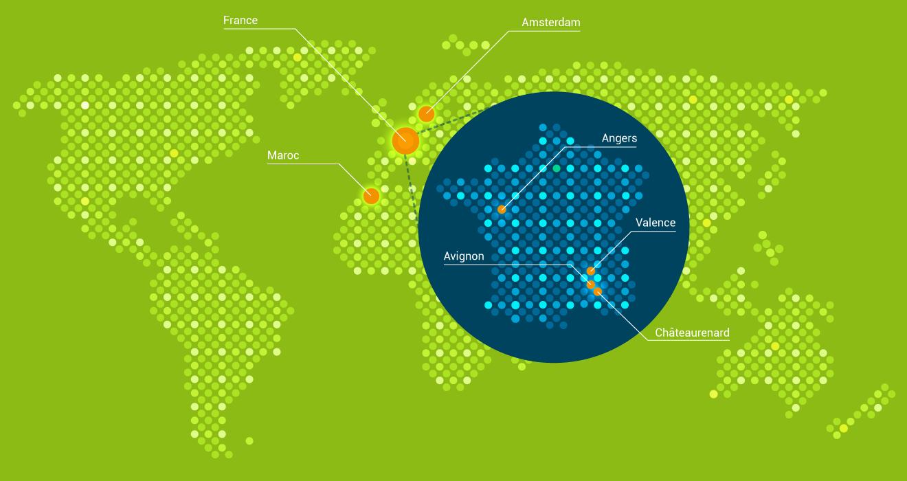 Carte bureaux VGD dans le monde