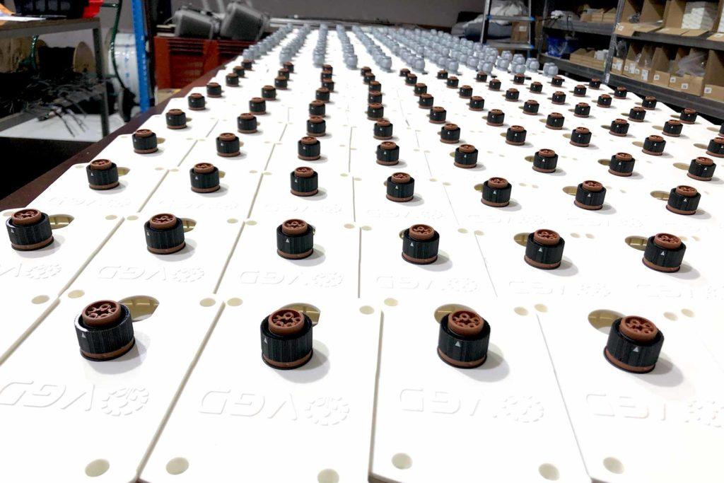 Luminaires VGD en préparation avant livraison