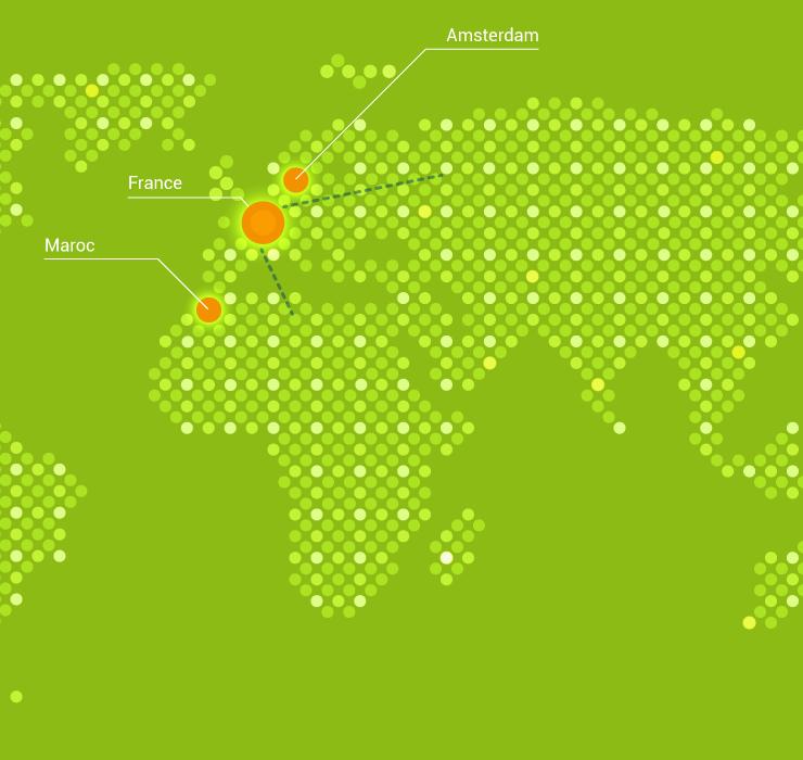 Carte monde bureaux VGD international