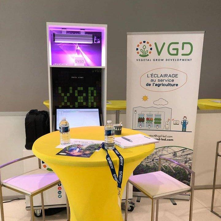 Stand VGD éclairage au service de l'agricuture luminaire led